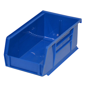 Stackable Plastic Storage Bins in Blue