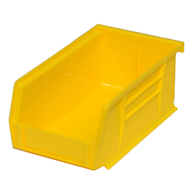 Stackable Plastic Storage Bins in Yellow