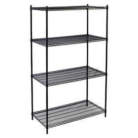 Wire Shelving Unit in Black