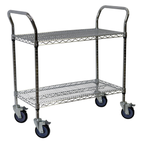 Wire Service Carts in Chrome
