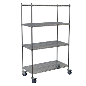 Wire Shelving Mobile Unit in Chrome