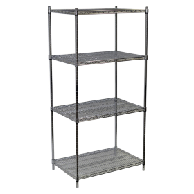 Wire Shelving Unit in Chrome